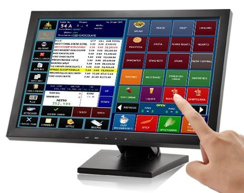 "17"" Touch Screen LCD VGA Monitor POS"